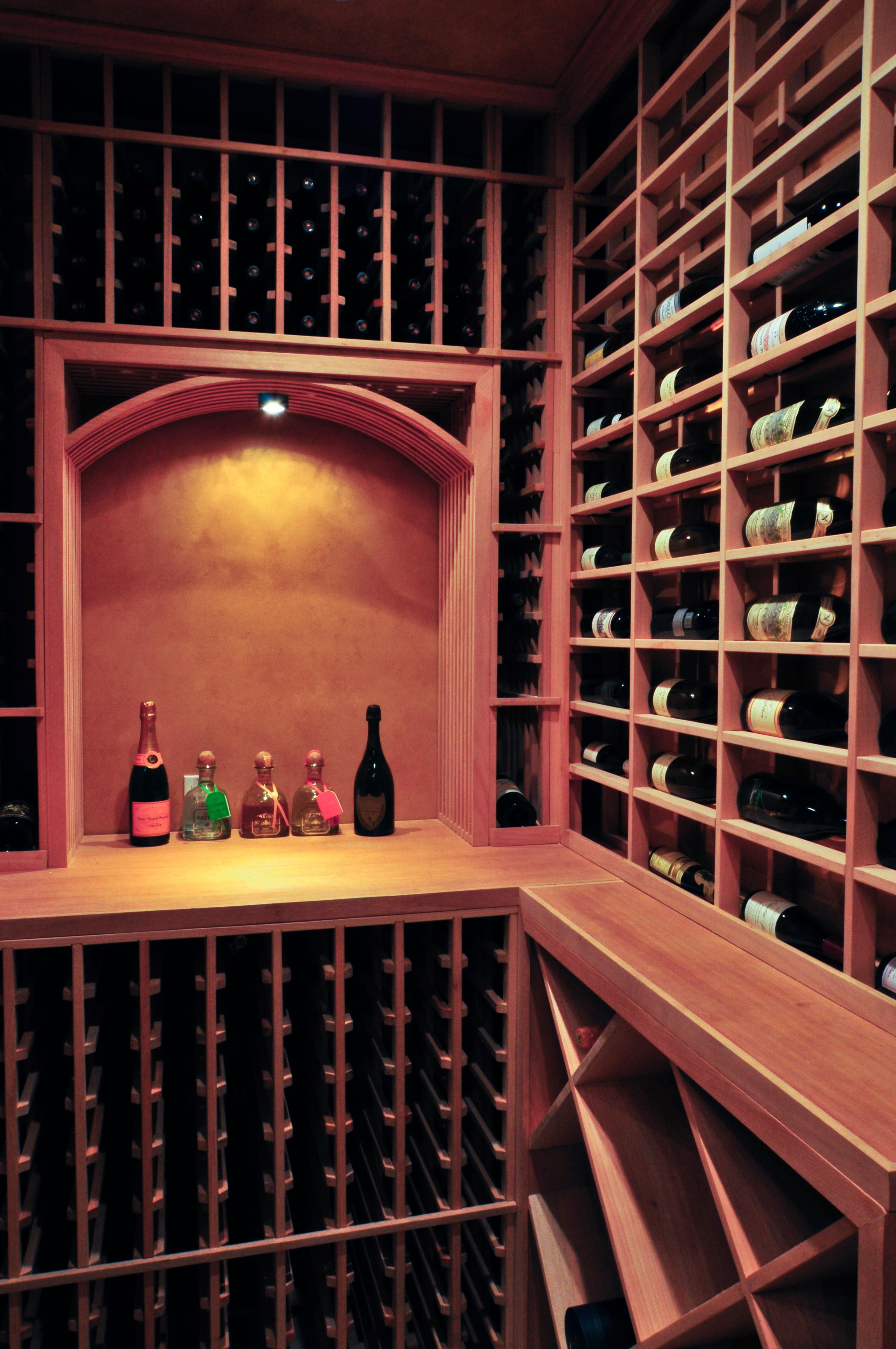Palos verdes custom wine cellars los angeles builders project for Walk in wine cellar