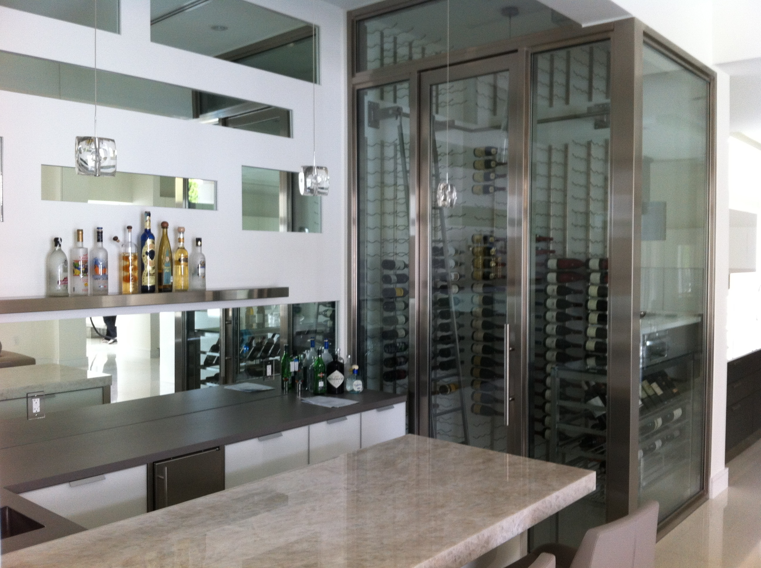 Contemporary home wine cellar builders miami florida for Wine cellar in house